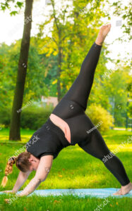 plus-size-woman-downward-dog-pose