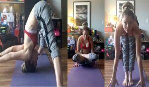 Miley-Cyrus-yoga