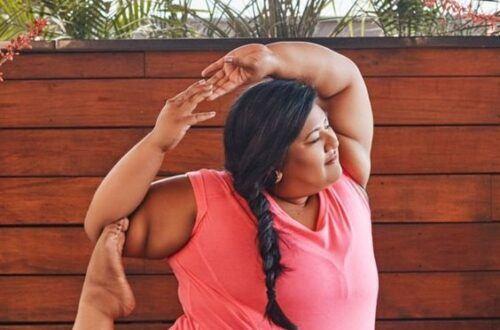 plus size woman yoga pose2