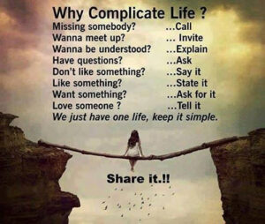 simple life quote