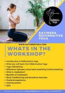 Katimera Reformative Yoga Workshop details